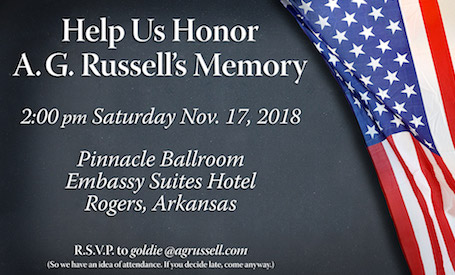 Honor A.G. with us - Click Image to RSVP