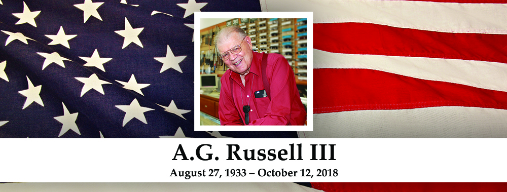 A.G. Russell III - August 27, 1933 -- October 12, 2018