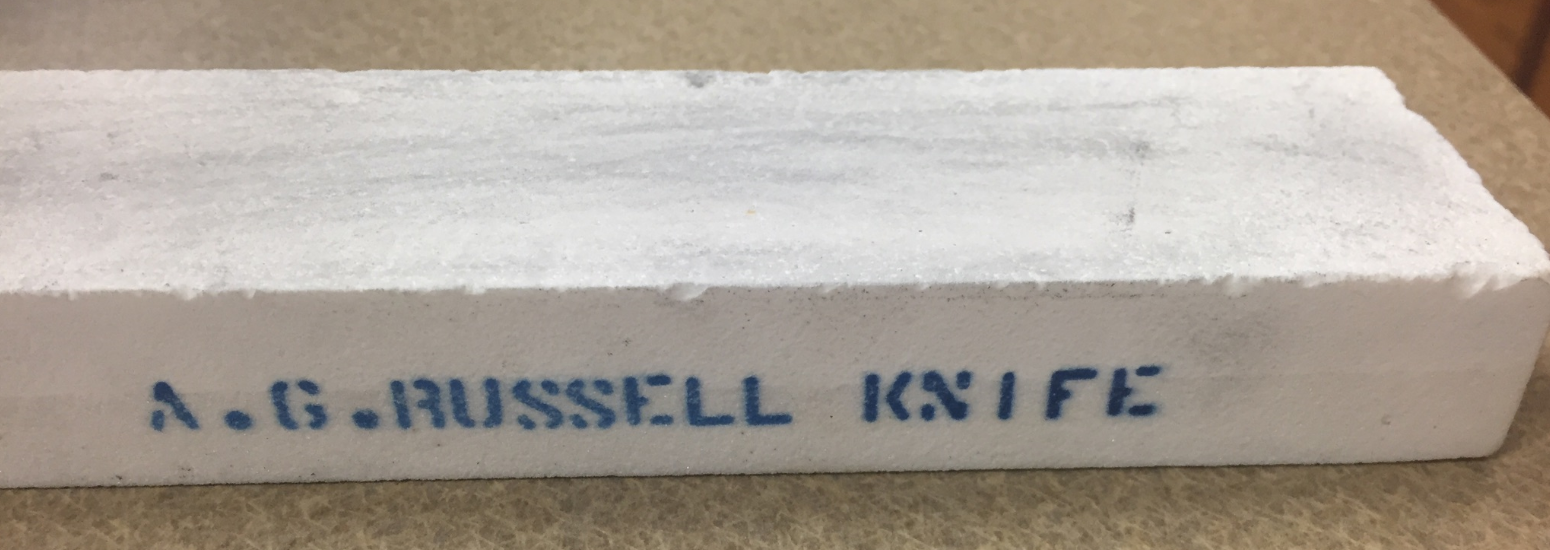 White Sharpening Stone - A.G. Russell Knives