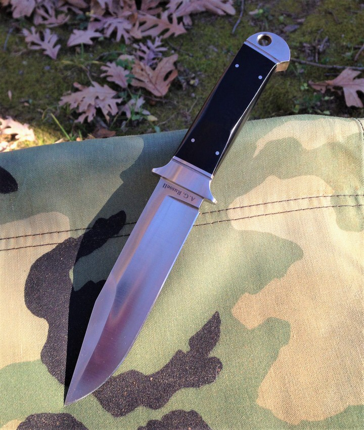 A.G. Russell Chute Knife with Ebony Rucarta Handle