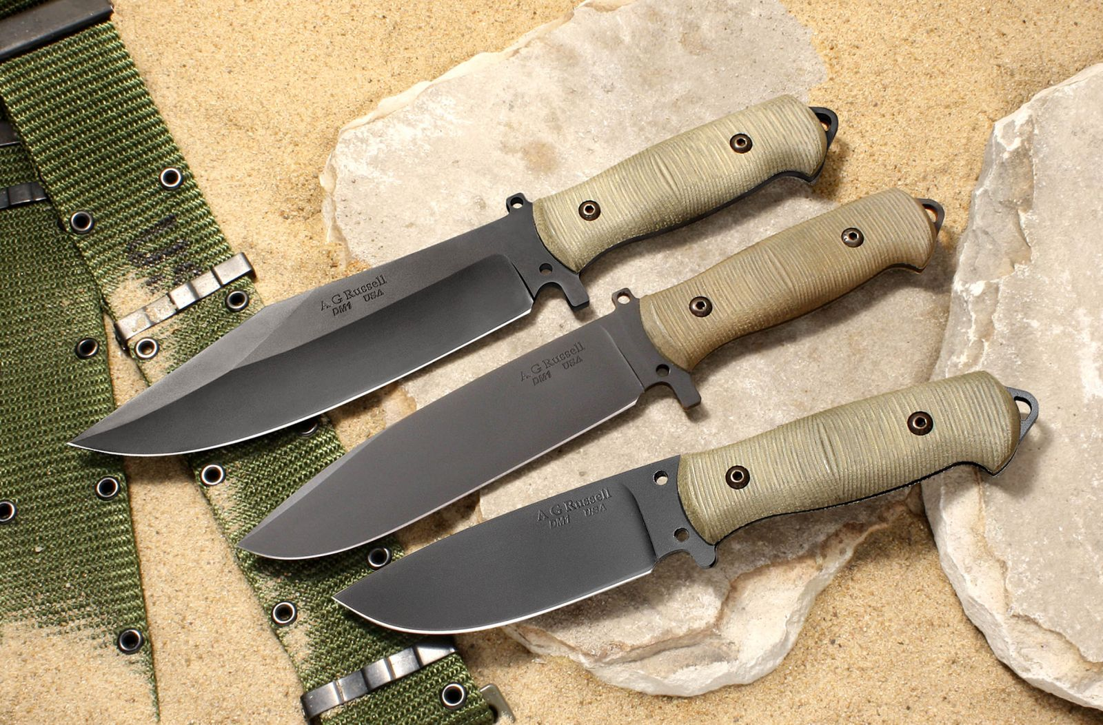 A.G. Russell USA Shopmade Sandbox Knife Series - Non-stainless steel DM-1