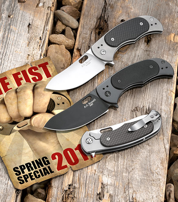 A.G. Russell Fist and TI-Fist Tactical Folders