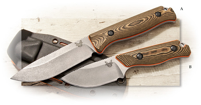 Benchmade Hunt Series Saddle Mountain Hunter & Skinner - Fixed blade hunting knives CPM-S90V steel