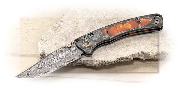 Benchmade Gold Class Mini Crooked River - Damasteel