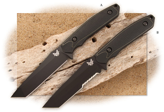 Benchmade Protagonist Tanto fixed tactical blades in blade with kydex sheaths