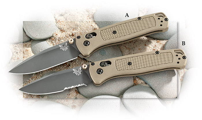 BENCHMADE 535GRY-1 BUGOUT GRAY COATED CPM-S30V STEEL AXIS LOCK  FOLDING KNIFE.