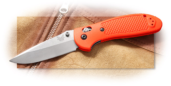 Benchmade Griptillian S30V Drop Point-Orange Handle