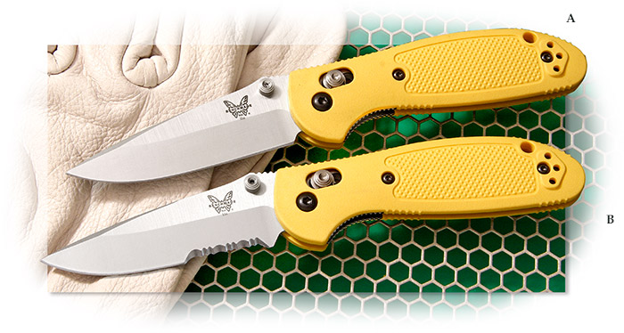 Benchmade® Mini-Griptilian™ Yellow Plain edge