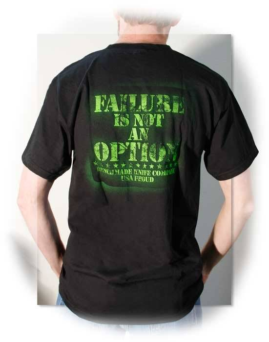 "Benchmade® ""Failure is Not and Option"" T-Shirt - Medium"
