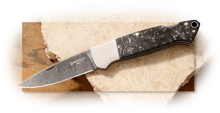 Boker 2017 Damascus Lockback Folder