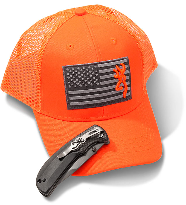 Browning Knife   Cap Combo Set-Blaze Orange  11408e85612