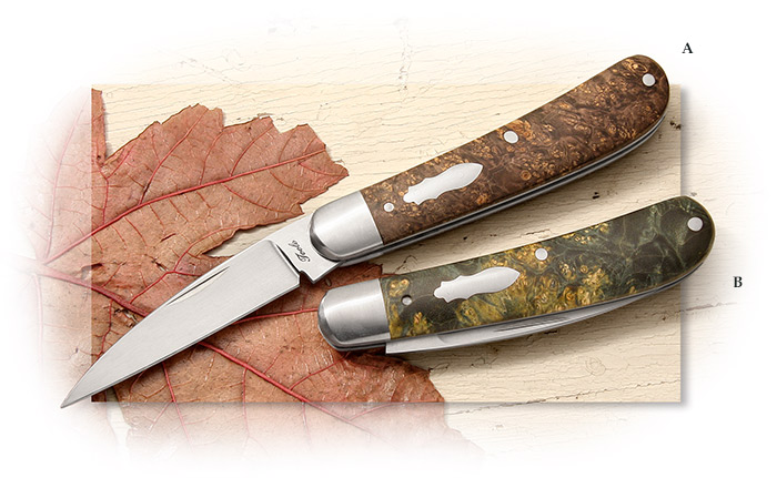Bobby Toole Knives Swayback Jack Brown Box Elder Scales