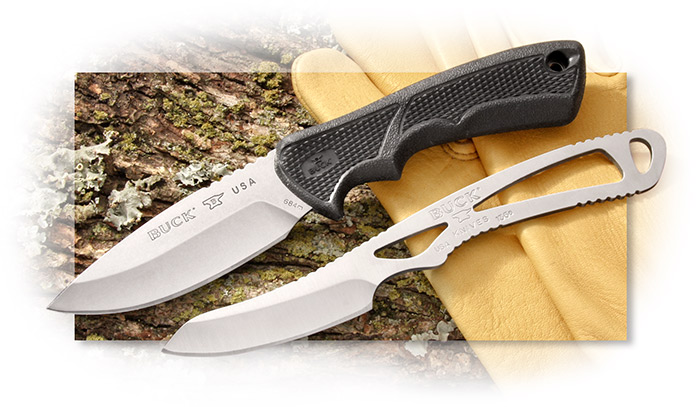 Buck Bucklite Paklite Combo Set with Drop Point Blade and Skeleton Caping Knife