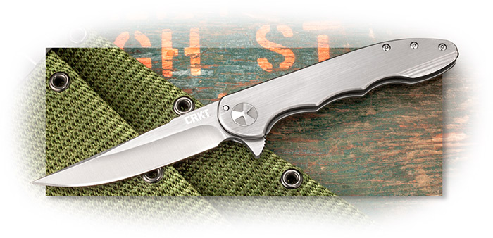 CRKT - UP & AT'EM - Thin Folding Knife W/ FLIPPER - FRAME LOCK FOLDER