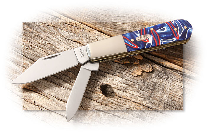 Case 2 Blade Barlow Patriotic Kirinite