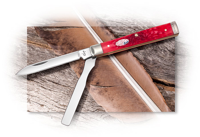 W.R. Case Doctor's Knife with Red Bone Handle