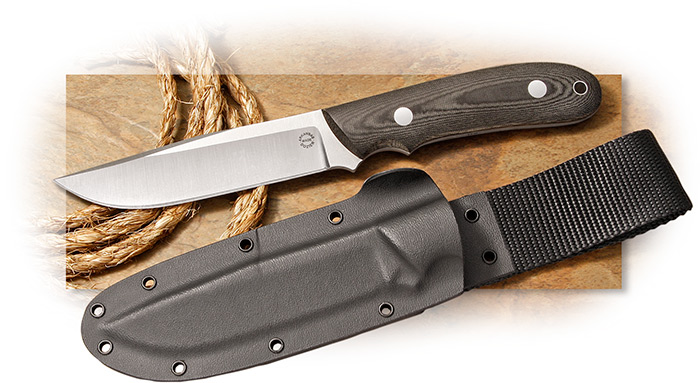 Dozier Professional Guides Knife with Wilderness Sheath