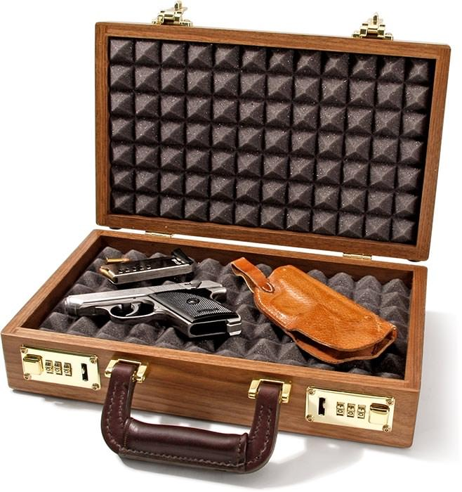 Gerstner Model 45 Pistol Case cherry & simulated leather