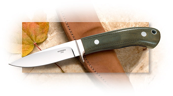 Wayne Hendrix Path Finder - mirror polished deep hollow grind blade in ATS-34 - handmade sheath