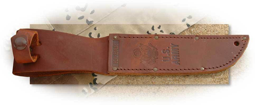 Ka-Bar Brown Leather Sheath - U. S. Army