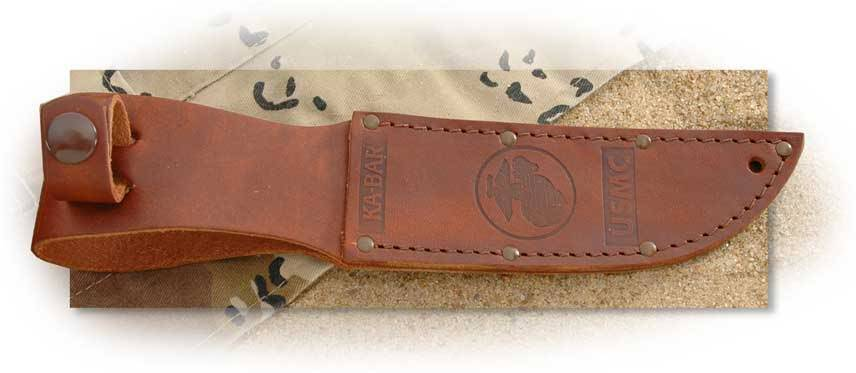 Ka-Bar® Brown Leather Sheath for Short Ka-Bar - U.S.M.C.