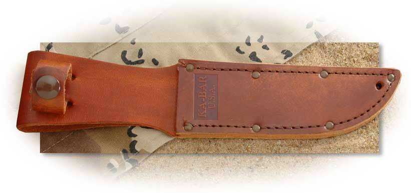 Ka-Bar Brown Leather Sheath for Short KaBar - USA