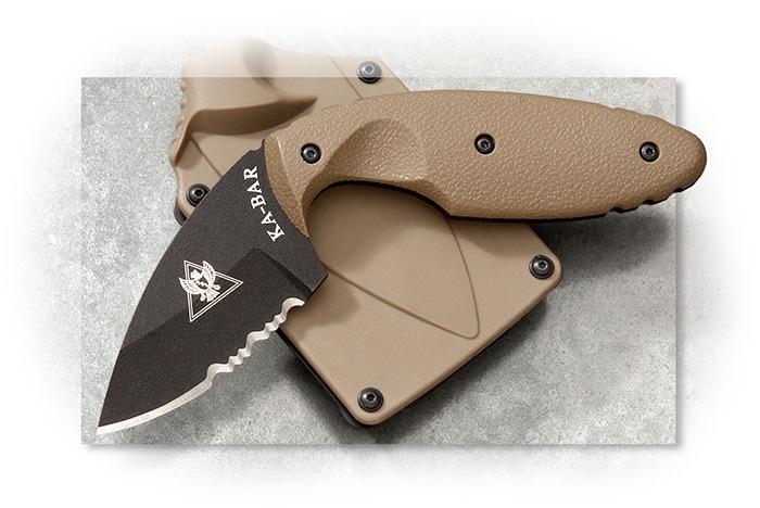 Ka-Bar TDI Law Enforcement Knife - Combo Edge Coyote Brown | AGRussell.com