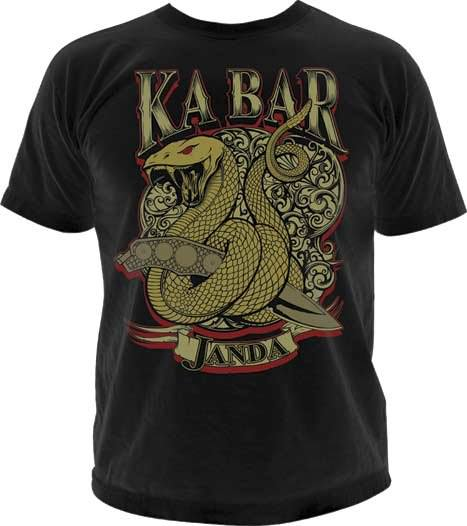 Ka bar dozier design t shirt for Custom bar t shirts