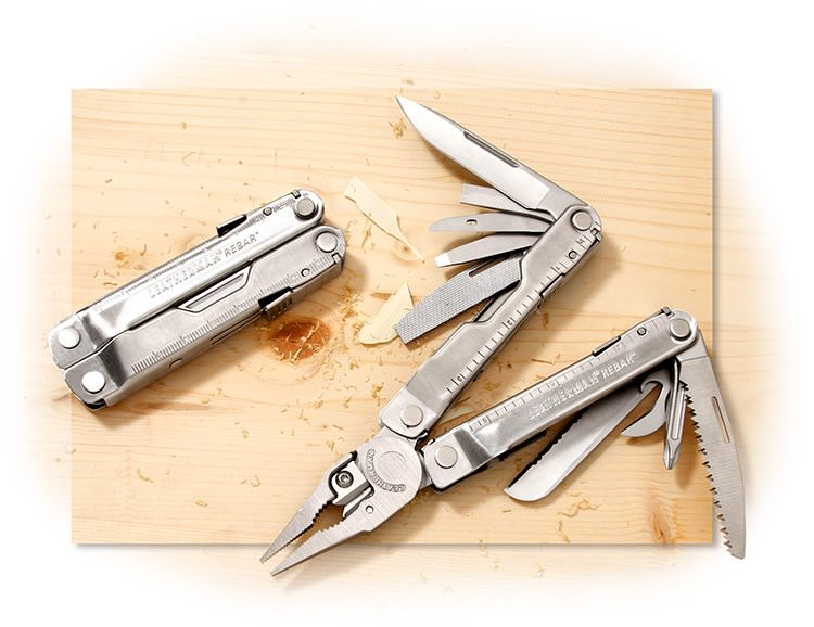 LEATHERMAN - REBAR - 17 FUNCTION MULTI-TOOL - NEEDLENOSE & REGULAR PLIERS/WIRE & HARD WIRE CUTTERS/C