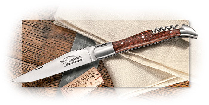 LAGUIOLE DURAND - FOLDING KNIFE WITH CORKSCREW - SNAKEWOOD HANDLE