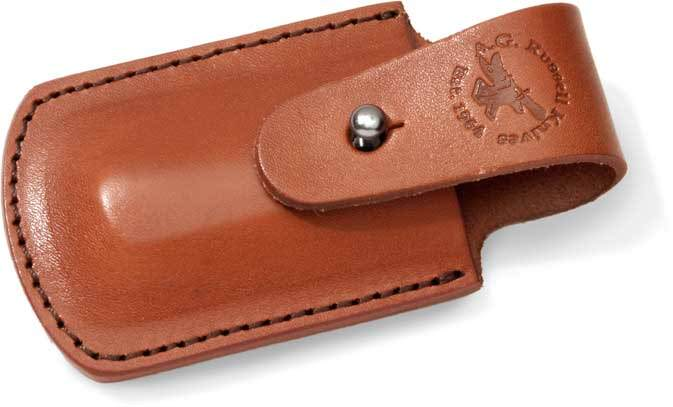BROWN LEATHER POUCH FOR SOWBELLY TRAPPER