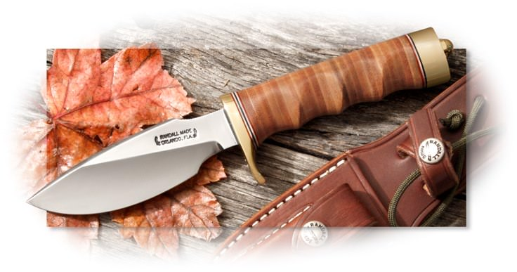Randall Model 11 Alaskan Skinner with Fingergrooved Leather Handle