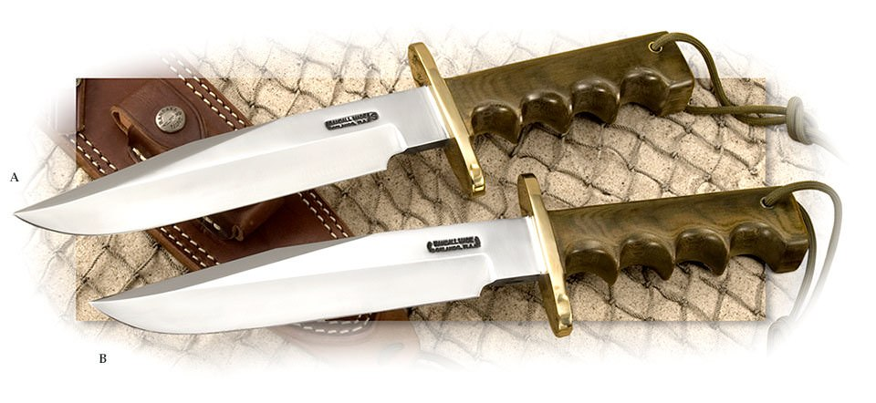 Randall® Model 14 Attack with Green Micarta Handle - Available in Stainless or Non-stainless