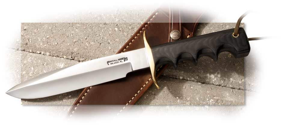 Randall Model 16 Dive Double Hilt with Black Micarta Handle