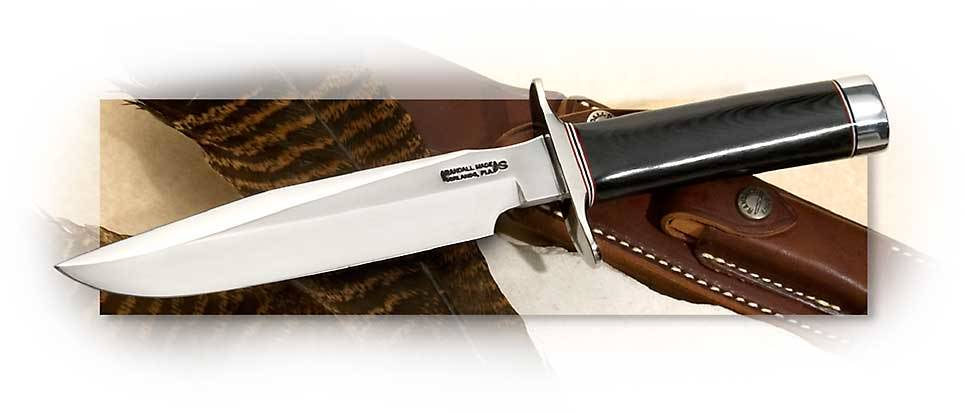 Randall Model 1 Fighter  with Stainless Blade & Black Micarta Handle