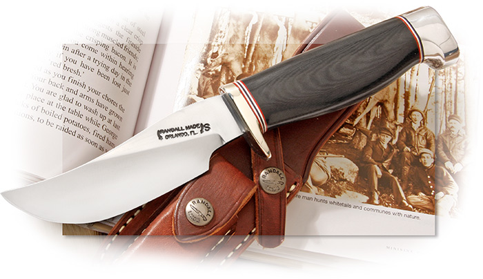 Randall Model 22 Outdoorsman with Black Micarta Handle