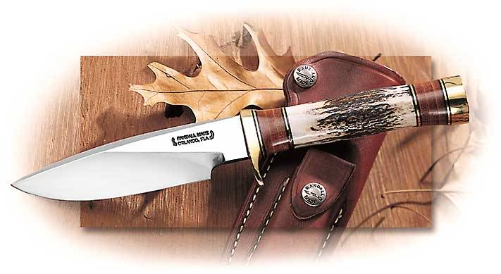 Randall Model 25 Trapper with Leather and Stag Handle
