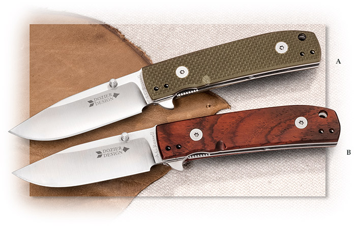 A.G. Russell Small Dozier Trapper with Green G10