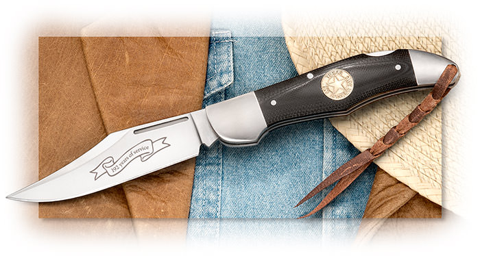 A. G. Russell 2015 Texas Ranger - Large folding clip point blade