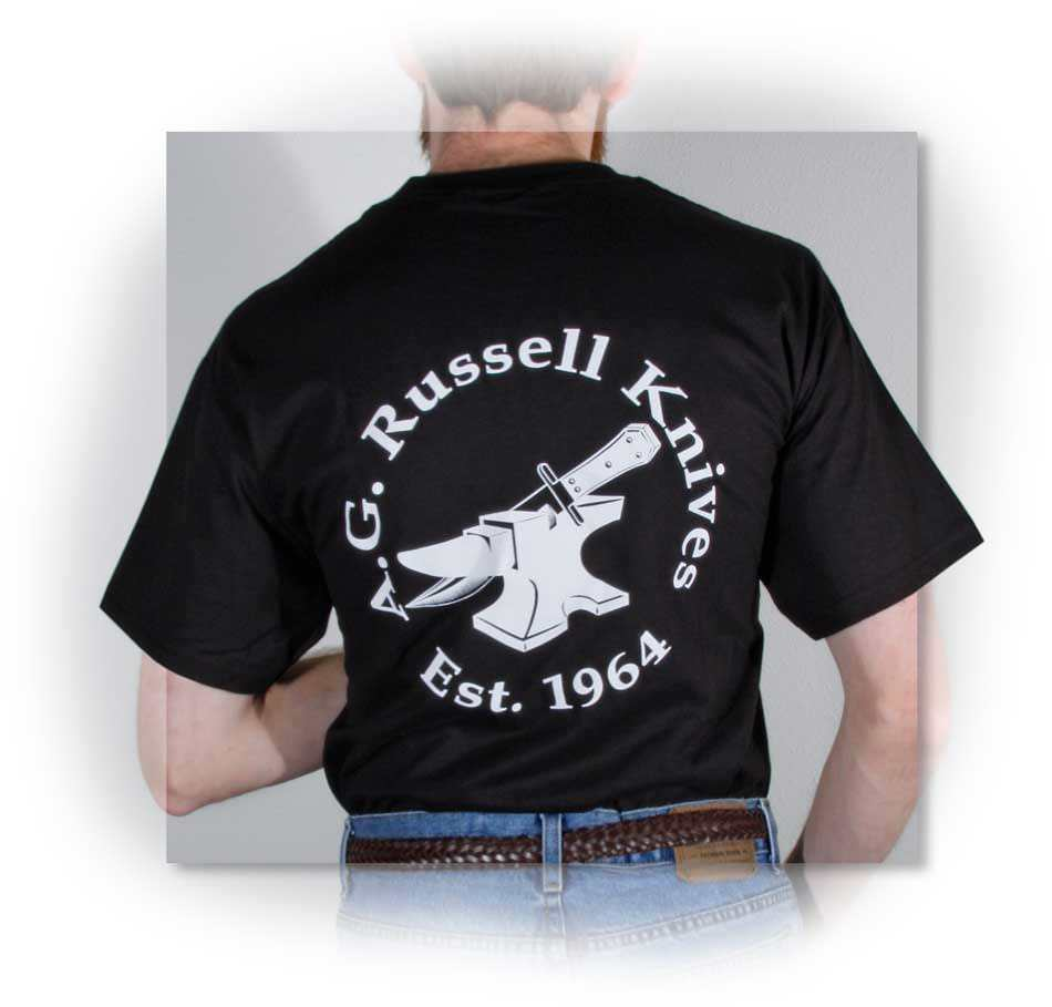 A.G. Russell™ Anvil Logo Shirt Black Large