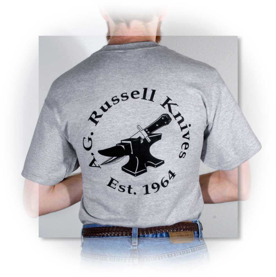 A.G. Russell Anvil Logo Shirt Gray X-Large