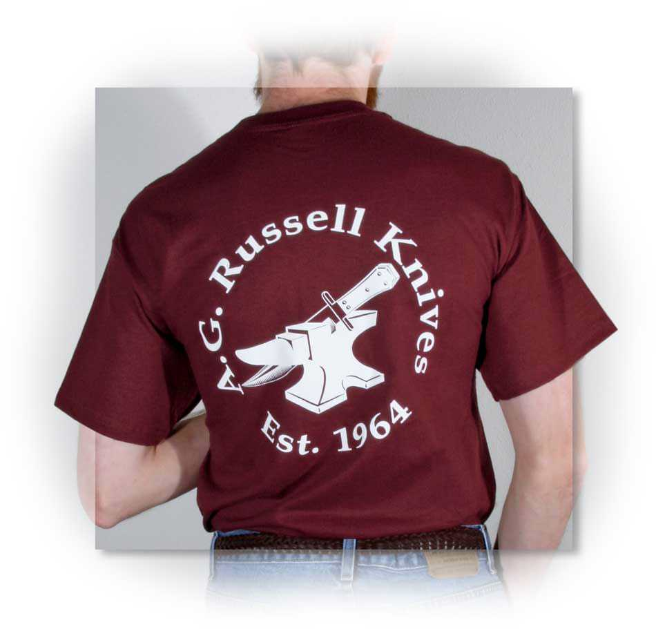 A.G. Russell Anvil Logo Shirt Maroon