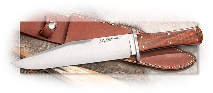 A.G. RUSSELL SHOPMADE - CALIFORNIA BOWIE - AMBOYNA SCALES