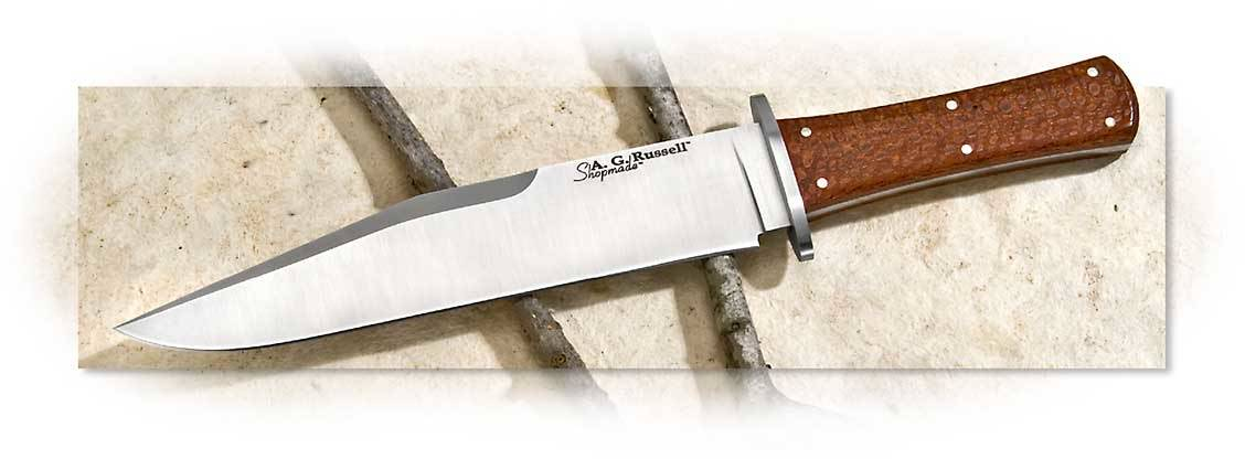 A.G. Russell California Bowie with Leopardwood Scales