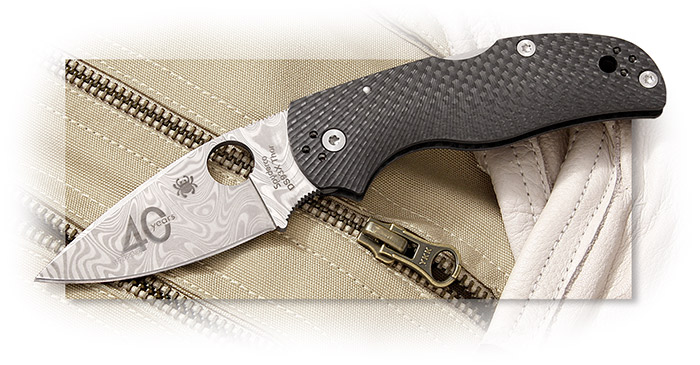 Spyderco C41CF40TH 40th Anniversary Native 5 Folding Knife Carbon Fiber Handles