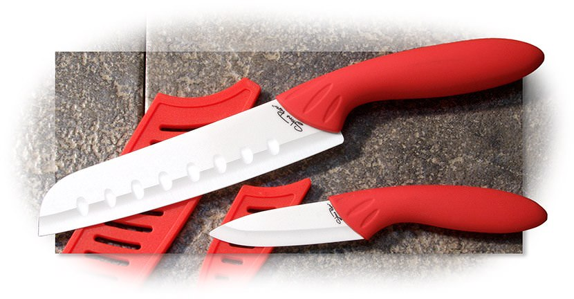 Stone River Gear Ceramic Kitchen Knife Set Red