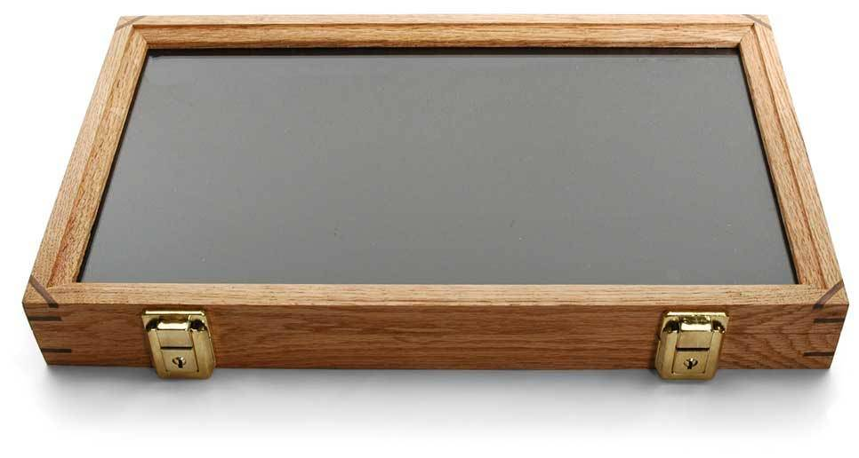 Oak Display Box with Glass Lid