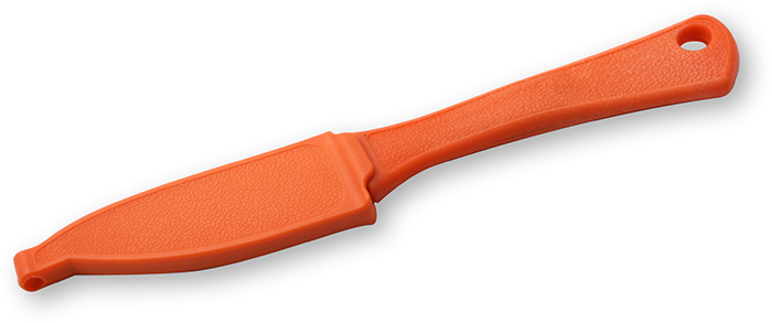 WAR EAGLE BLADES- DROP POINT SKINNER - ORANGE FIBERGLAS REINFORCED NYLON HANDLE