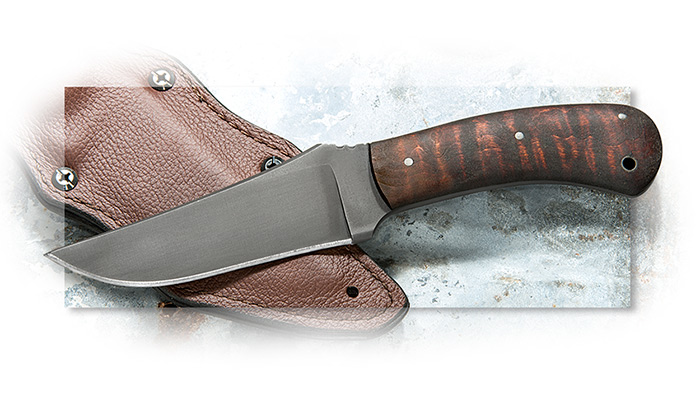 Winkler Knives Large Belt Knife WKII Handmade With Modified Clip Point Blade