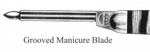 Manicure Blade, Grooved